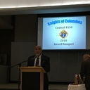 SK. Arnoldo Saenz / Grand Knight offers opening remarks at the banquet